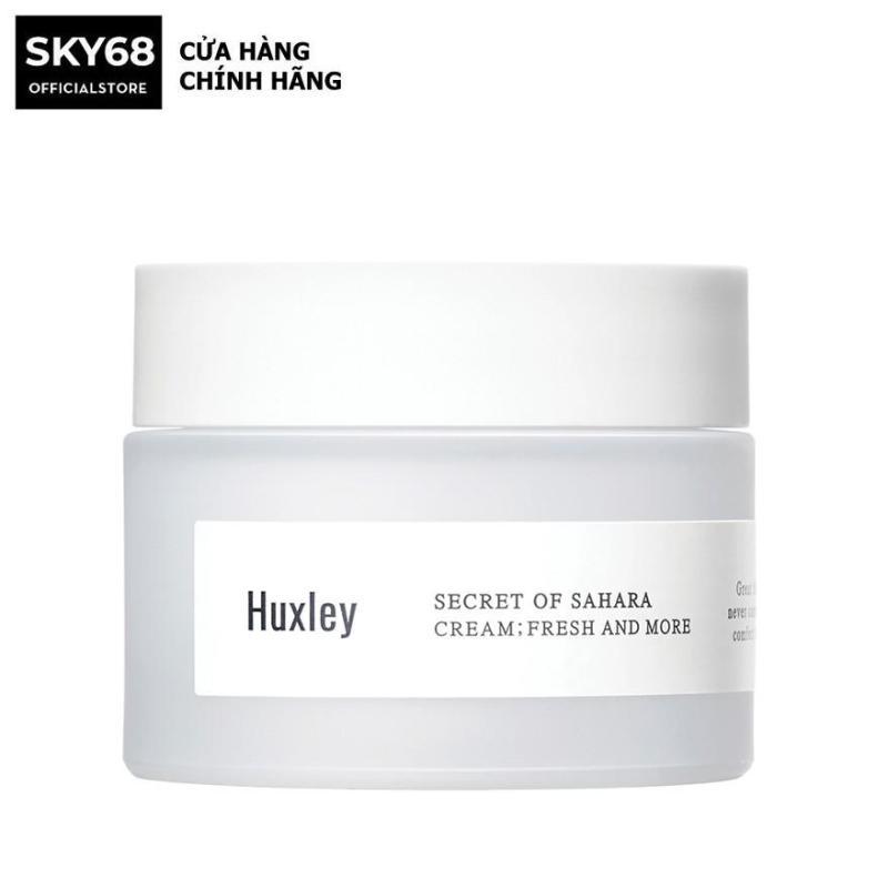 Kem Dưỡng Da Ẩm Mượt, Dưỡng Sáng Da Dạng Gel Chiết Xuất Xương Rồng Huxley Secret Of Sahara Cream; Fresh And More 50ml giá rẻ