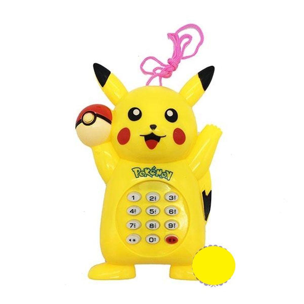 Lazada Giảm Giá Khi Mua Đồ Chơi điện Thoại Bàn Cầm Tay Pikachu Dùng Pin Có Nhạc Xinh Xắn Ngộ Nghĩnh Cho Bé, Dùng 2 Pin AA