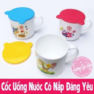 Cốc Uống Nước Cho Bé Có Nắp Đậy Cực Xinh - Made in Việt Nam thumbnail