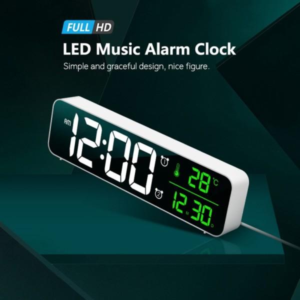 Nơi bán Đồng Hồ Báo Thức Gương LED, Đồng Hồ Kỹ Thuật Số Để Bàn Điều Khiển Bằng Giọng Nói, Nguồn Điện USB, Trang Trí Điện Tử Để Bàn