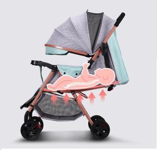 Xe nôi - xe đẩy em bé 2 chiều phiên bản cao cấp nhiều tư thế nằm ngồi, chất liệu thoáng mát, bánh xe có giảm sóc, khóa đai an toàn, có thể gấp gọn - BẢO HÀNH 2 NĂM thumbnail