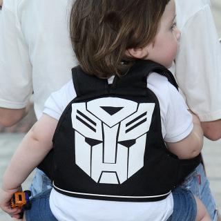 Đai an toàn dạng balo cho bé đi xe máy có lớp lưới đệm thoáng khí êm lưng bé thumbnail