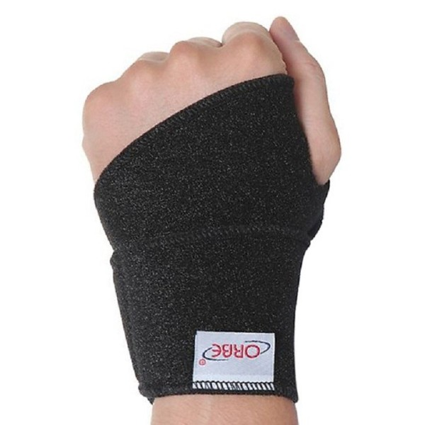 Băng thun cổ tay ORBE - Băng thun thể thao bảo vệ cổ tay - Hàng chính hãng - ORBE 24(Đen)