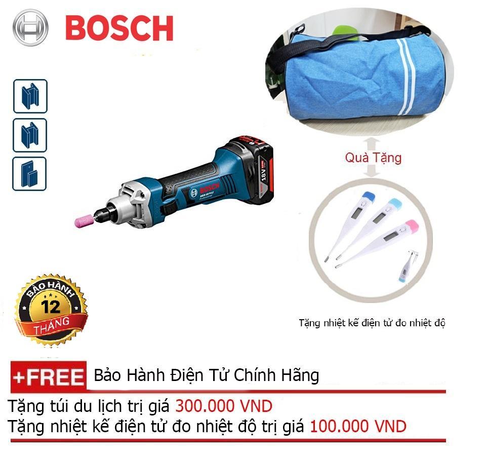 Máy mài thẳng dùng pin Bosch GGS 18V-LI (SOLO) + Quà tặng balo du lịch