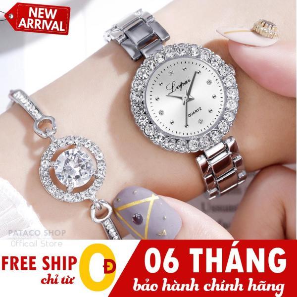 Đồng hồ nữ thời trang LVFAI LF62, Dây kim loại cao cấp, Mặt đính cườm sang trọng, Bảo hành 6 tháng