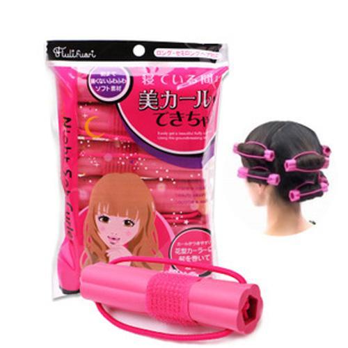 Combo 6 lô uốn tóc - ô cuốn tóc giá rẻ,lô gợn sóng, xoăn lọn to, làm tóc đẹp tại nhà,tạo kiểu tóc xoăn siêu nhanh siêu tự nhiên cho bạn gái cao cấp