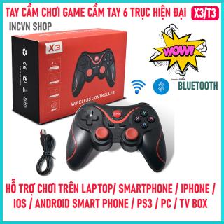 [Miễn Ship] Tay cầm gamer hỗ trợ chơi game Bluetooth không dây X3 T3 - Tay cầm chơi game pubg lien quân ff cho pc, laptop, điện thoại,tv box, tv android giá rẻ - Tay cầm gamepad X3 thumbnail