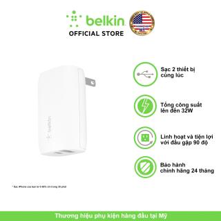 Củ sạc nhanh cao cấp Belkin PD 30W cho iPhone iPad, 2 cổng USB-C 18W + USB-A 12W, BH đổi mới trong 2 năm, hãng phân phối chính thức - F7U097dqWHT thumbnail