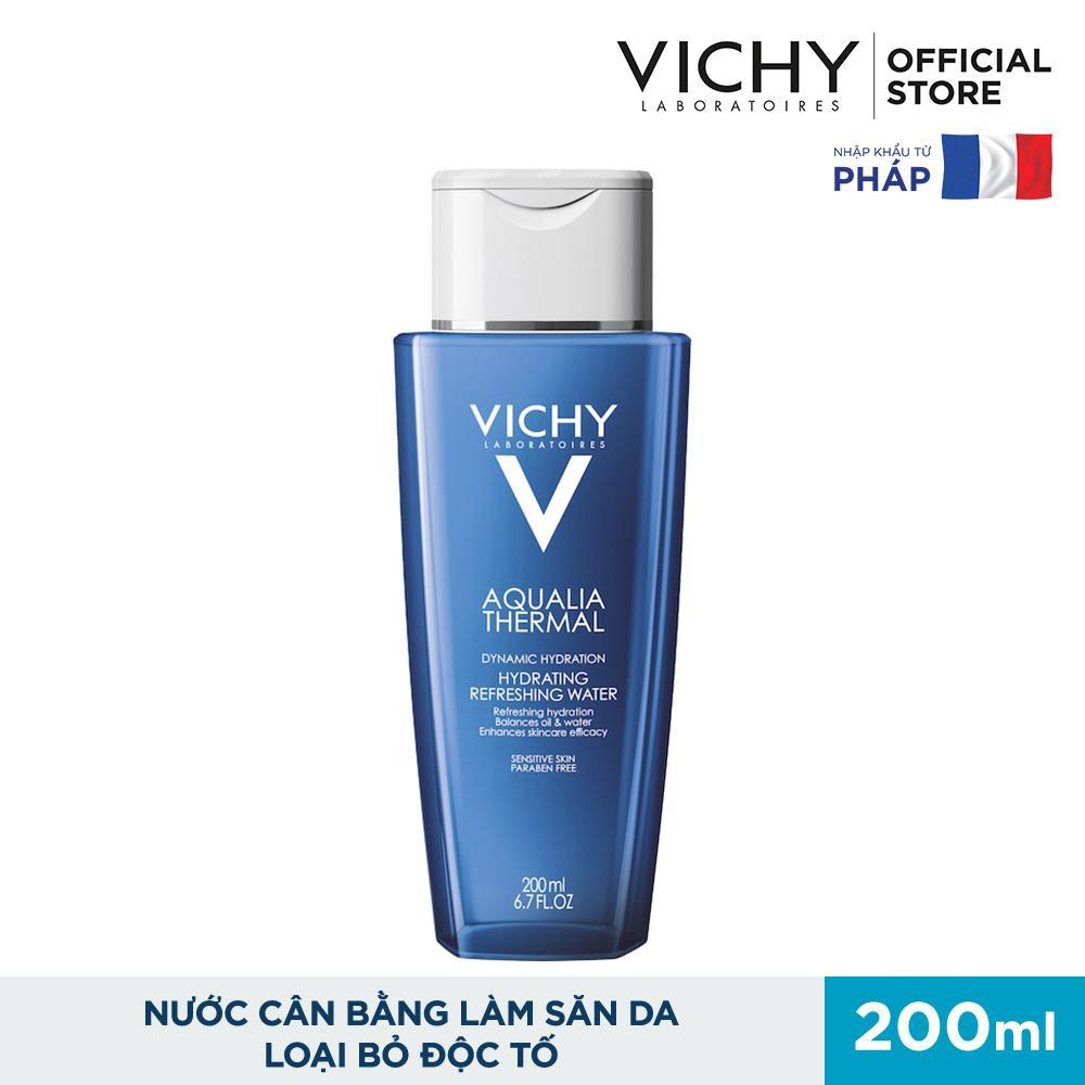 Nước cân bằng làm săn da loại bỏ độc Vichy Aqualia 200ml nhập khẩu