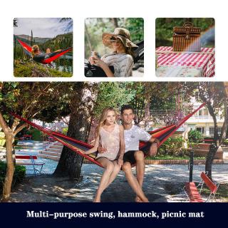 Portable Garden Outdoor Camping Travel Canvas Stripe Hammock Carry Pouch thumbnail
