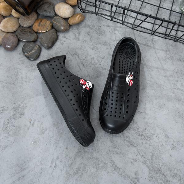 Giá bán [Tặng 04 sticker] Giày nhựa WNC NATlVE trẻ em - Chất liệu nhựa EVA mềm nhẹ không thấm nước - Màu (Đen)