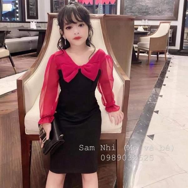 Giá bán Đầm Body Nơ phối tơ xước siêu sang cho cô nàng hotgirl nhí