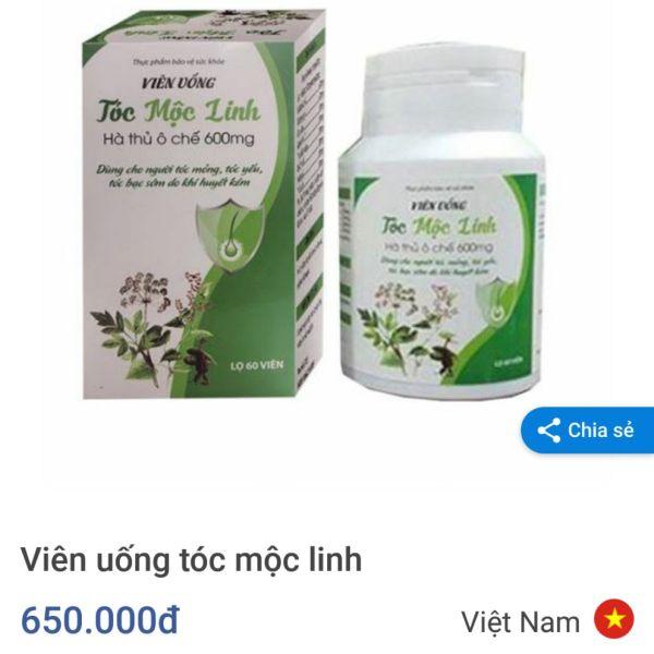 Tóc Mộc Linh 60v nhập khẩu