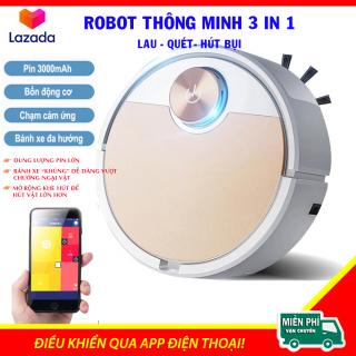 (BẢN NÂNG CẤP 2021) Máy Hút Bụi Trong Nhà,Robot Hút Bụi Tốt, Máy Hút Bụi Tự Động, Robot Hút Bụi Đa Năng, Điều Khiển Qua App Điện Thoại, Bánh Xe Khủng - Pin Trâu [Hàng Loại 1] thumbnail