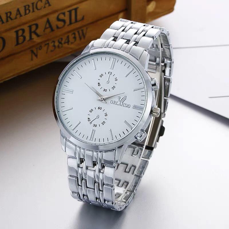 Hình ảnh Đồng hồ nam doanh nhân Orlando OLDT001 dây thép cao cấp