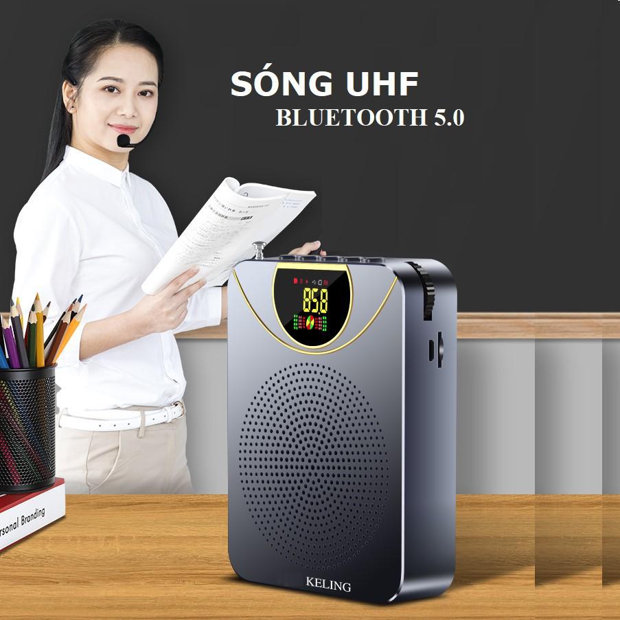 Loa Trợ Giảng Không Dây UHF Keling K2, Kết Nối Bluetooth 5.0 - Thiết Kế Gọn Nhẹ, Đẹp Mắt , Tích Hợp Đa Chức Năng, Pin Dung Lượng Cao , Bảo Hành 1 ĐỔI 1