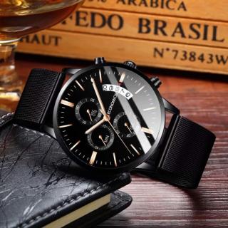 Đồng hồ nam dây thép ECONOMICXI thiết kế cá tính chạy lịch ngày - mẫu mới năm nay LTH09 thumbnail