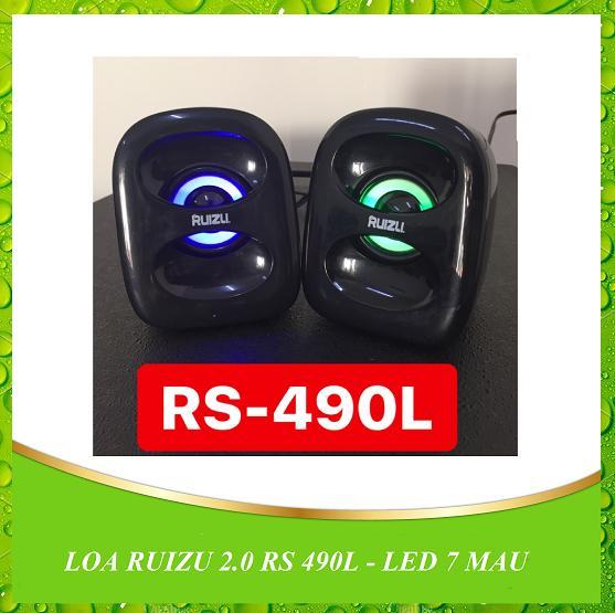 LOA VI TÍNH 2.0 RUIZU RS 490L - LED 7 MAU