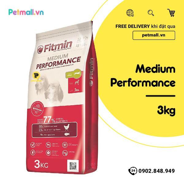 Thức ăn chó FITMIN Medium Performance 3kg - chó lớn giống vừa