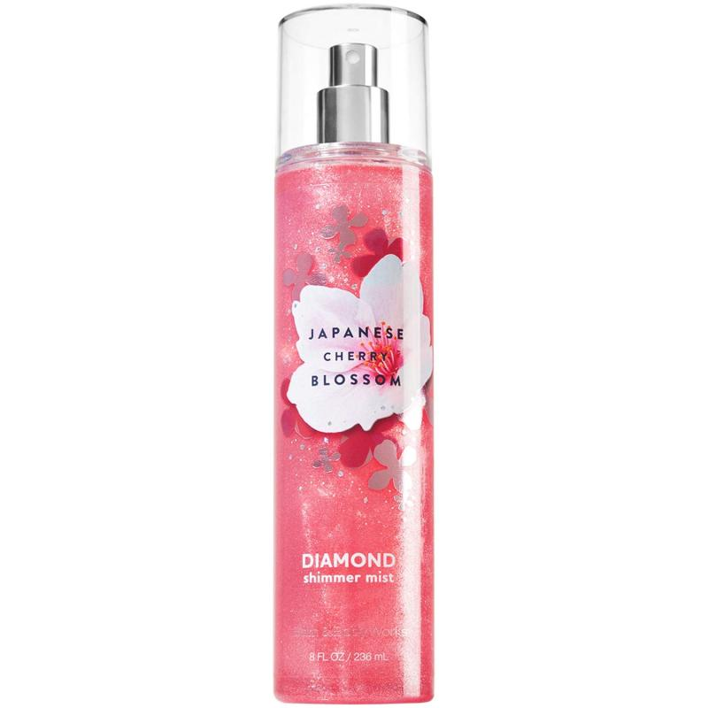 Xịt thơm toàn thân Bath & Body Works Fine Fragrance Mist - Japanese Cherry Blossom Diamond Shimmer (236ml)