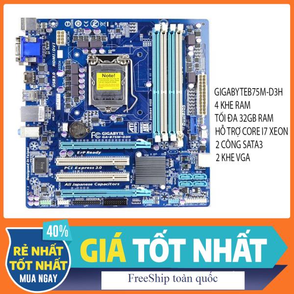 Siêu phẩm Main B75M-D3H 4 khe ram hỗ trợ CPU i7 Xeon