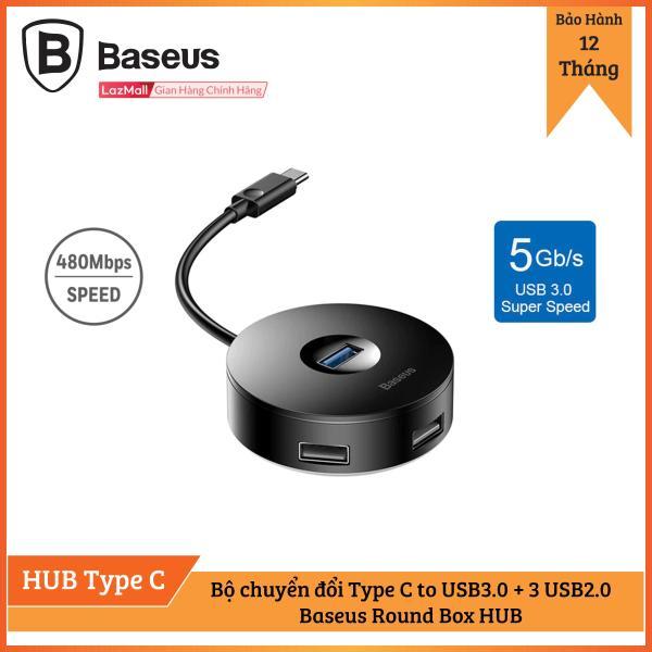 Bảng giá Bộ HUB chuyển đổi Type C sang USB 3.0 Baseus Round Box HUB (4 cổng USB, hỗ trợ ổ đĩa) Phong Vũ