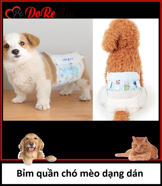 Doremiu - Tã bỉm chó mèo (lẻ 1 miếng) Bỉm quần dạng dán cho chó cái và mèo tã bỉm chó đực