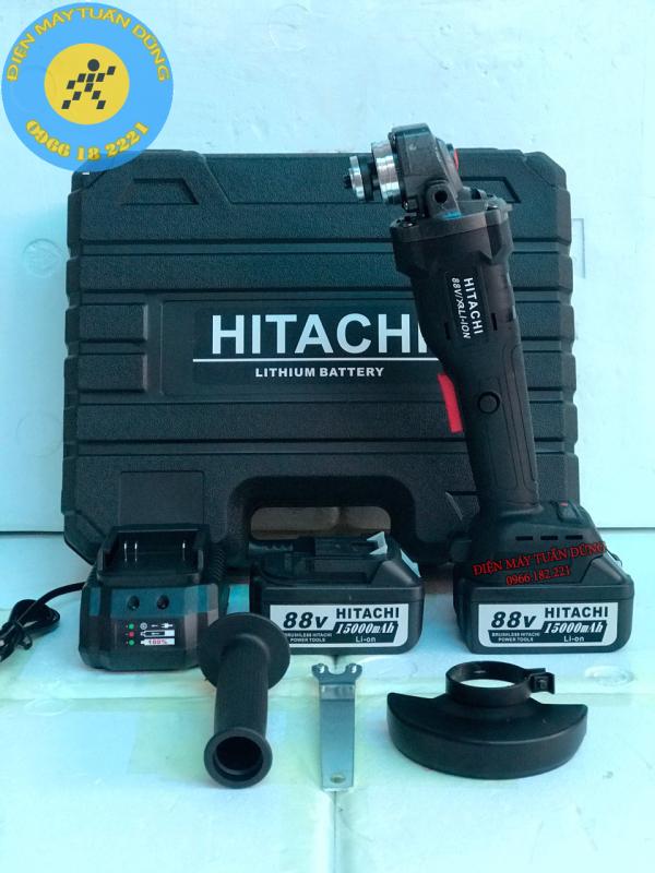 Máy Mài Pin HITACHI 88V Chuyên Dụng Trong Thi Công Xây Dụng,Chế Tạo Máy,Sản Xuất Công Nghiệp - 2 PIN - SẠC BÀN TỰ NGẮT