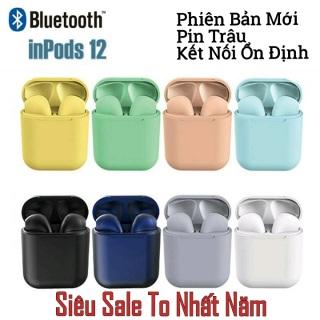 ( Được Chọn Màu ) Tai nghe Bluetooth inpods i12 Bản Cao Cấp Chip 5.0 Bluetooth, Tai Nghe Bluetooth Không Dây I12s hay hơn i7s, i9s, i11s , Tai Nghe Bluetooth Nhét Tai, Tai nghe bluetooth pin trâu thumbnail
