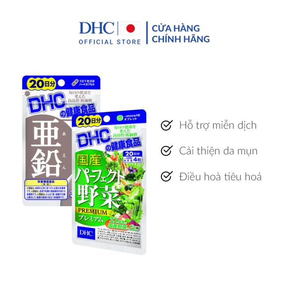 Combo Viên uống DHC Giảm Mụn - Nóng Trong 20 Ngày (Kẽm & Rau Củ) giá rẻ