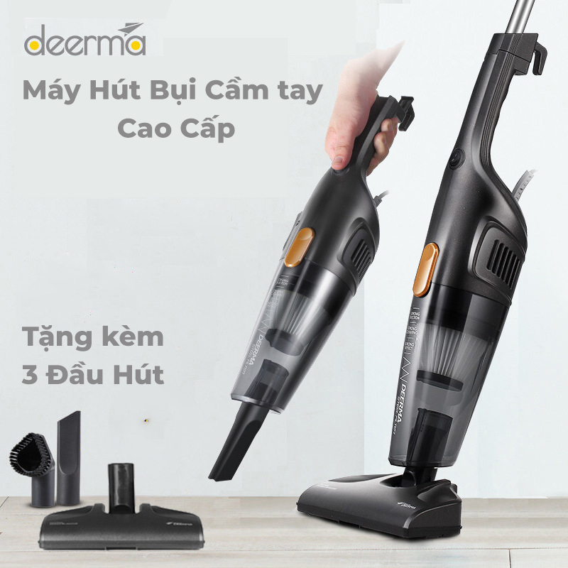 Máy hút bụi gia đình cầm tay Deerma DX115C máy hút bụi gia dụng 2in1 đa năng tiện dụng hút khỏe, hút sạch sàn, nệm siêu tốt