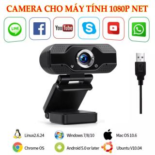 Camera cho máy tính - WEBCAM MÁY TÍNH CÓ MIC FULL HD 1080P - web cam usb camera pc laptop livestream học zoom online. thumbnail