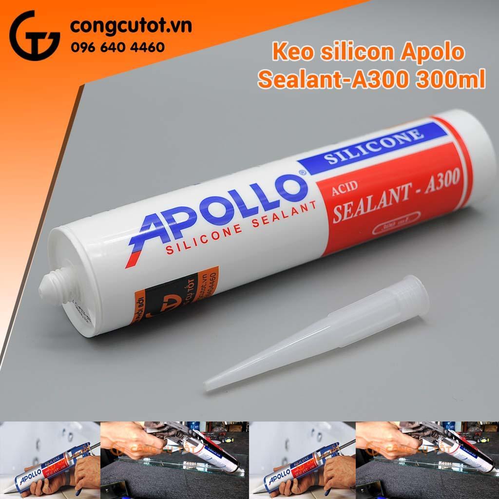 Combo 10 lọ keo silicon Apolo A300 300ml