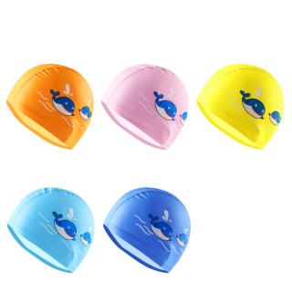 Mũ bơi cho bé, nón bơi trẻ em chất da PU chống thấm nước, co giãn tốt hình cá voi đủ màu sắc cho bé thoải mái bơi lội Baby-S SNB007 thumbnail