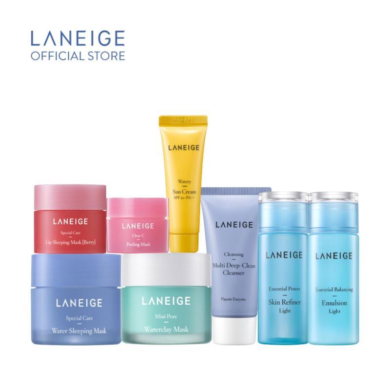 Bộ du lịch giảm bã nhờn, lỗ chân lông to & mụn đầu đen Laneige Clean Skin Set