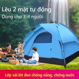 Lều dã ngoại tự động giá đỡ thủy lực 3-4 người hai tầng lều cắm trại, lều câu cá, lều bãi biển hai lớp chống nắng thoáng khí không gian lớn Tops Market thumbnail