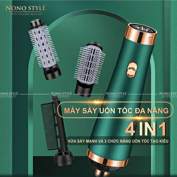 Máy uốn tóc, sấy tóc ion đa năng không tay cầm 3000W 4in1 không ồn, Máy uốn sấy dưỡng tóc, Máy uốn tóc nội địa Trung Quốc, Máy sấy tóc  ion âm, chăm sóc tóc bảo hành 6 tháng cao cấp