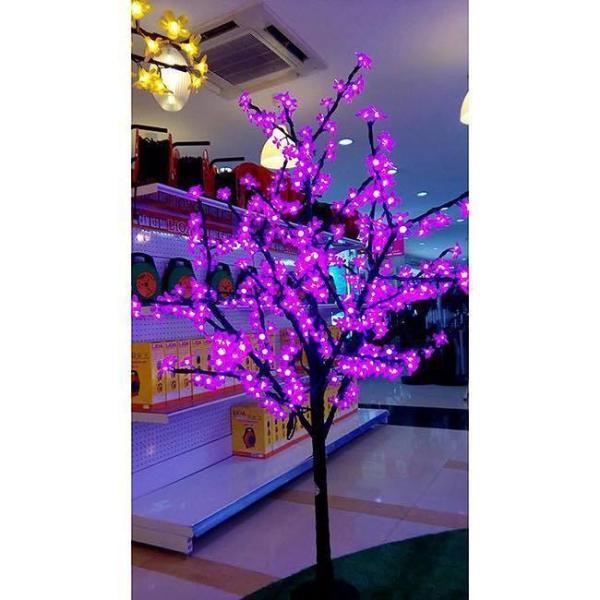 cây đào trang trí tết 1m2 có đèn led