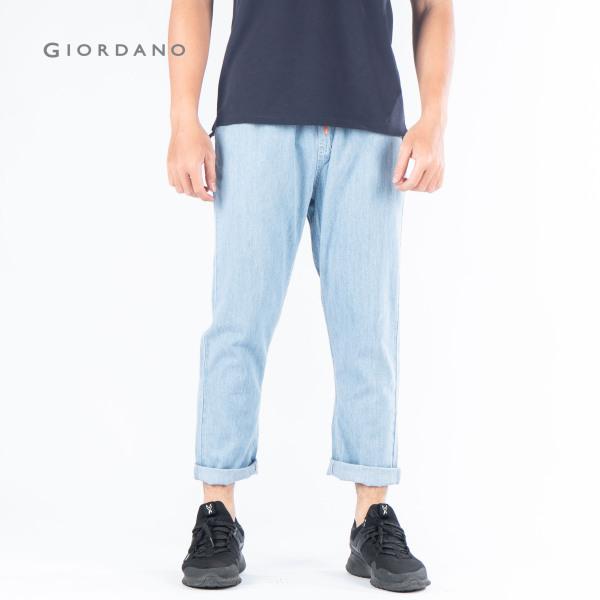 GIORDANO Quần Dài Cotton/Denim Lưng Chun 01129208