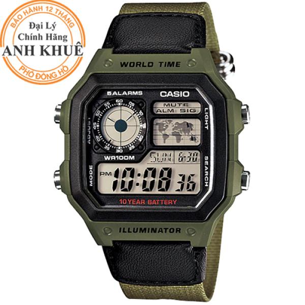Nơi bán Đồng hồ nam dây vải Casio Anh Khuê AE-1200WHB-3BVDF