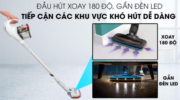 Máy hút bụi không dây dạng cán Philips FC6723 (đầu hút có đèn Led) - Hàng Chính Hãng