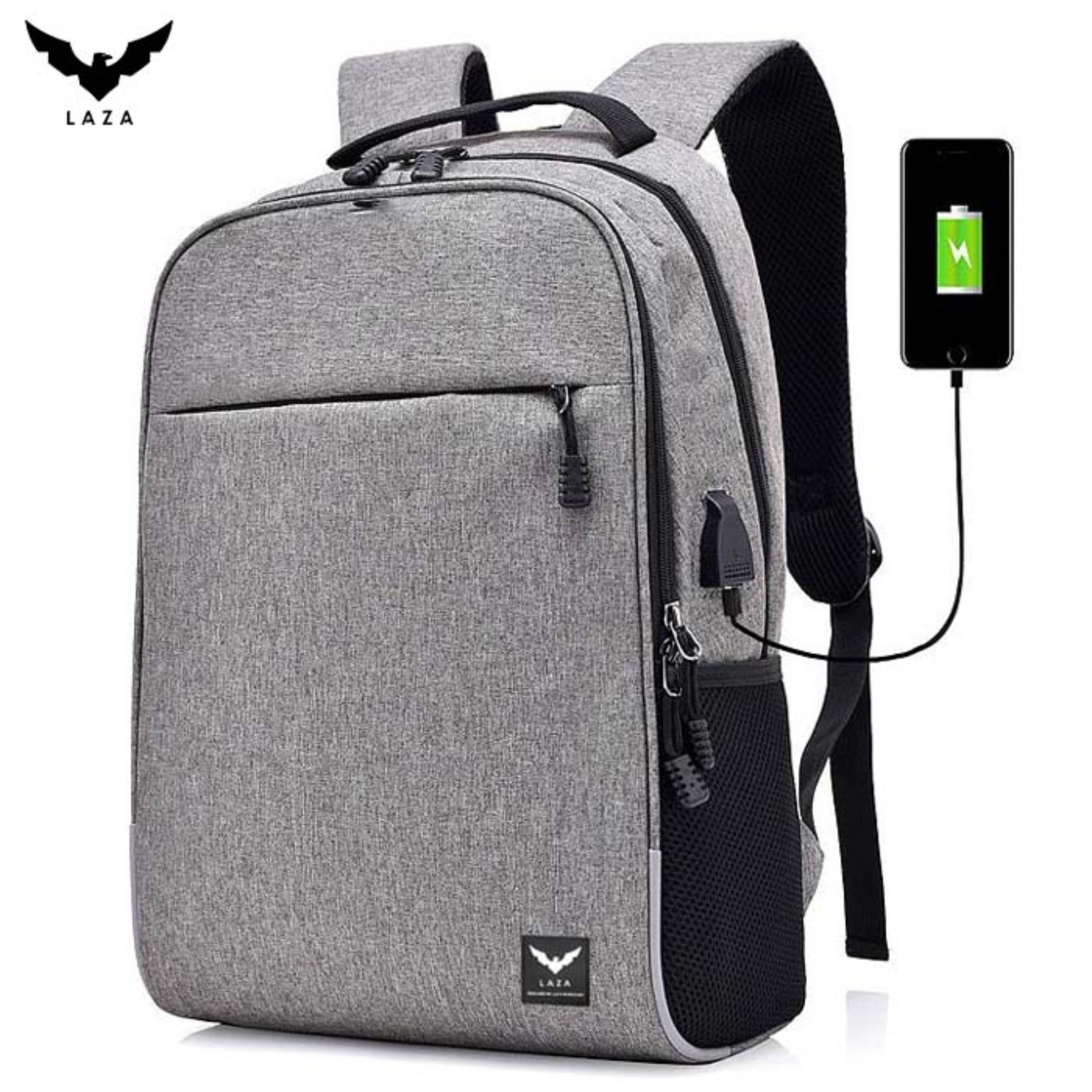 Ưu Đãi Khuyến Mại Khi Mua Balo Laptop LAZA BL423 Chất Liệu Vải Chuyên Dụng, Thiết Kế Hiện đại Và Thời Trang - Chính Hãng Phân Phối-Có USB