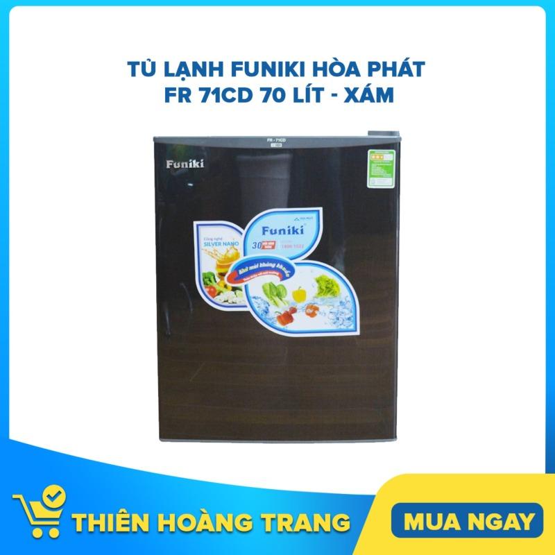 Tủ lạnh Funiki Hòa Phát FR 71CD 70 lít - xám