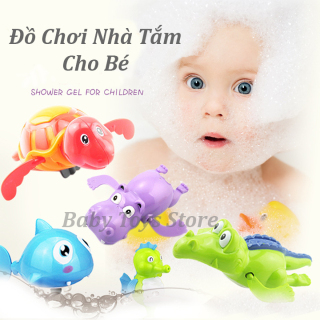 Đồ chơi dưới nước rùa vặn dây cót biết bơi - Đồ chơi phòng tắm cho bé hình con hà mã, cá sấu vui nhộn - Đồ chơi thả bồn tắm - Quà tặng sinh nhật cho bé gái, bé trai cute thumbnail