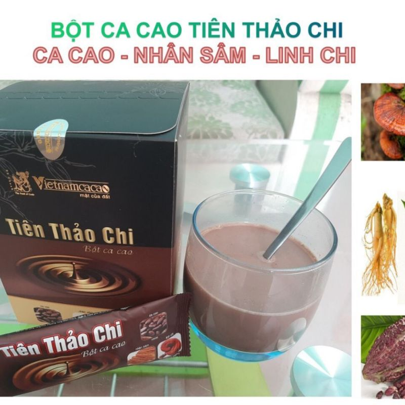 Bột ca cao tiên thảo chi chiết suất từ bột cacao ,nhân sâm ,linh chi cao cấp
