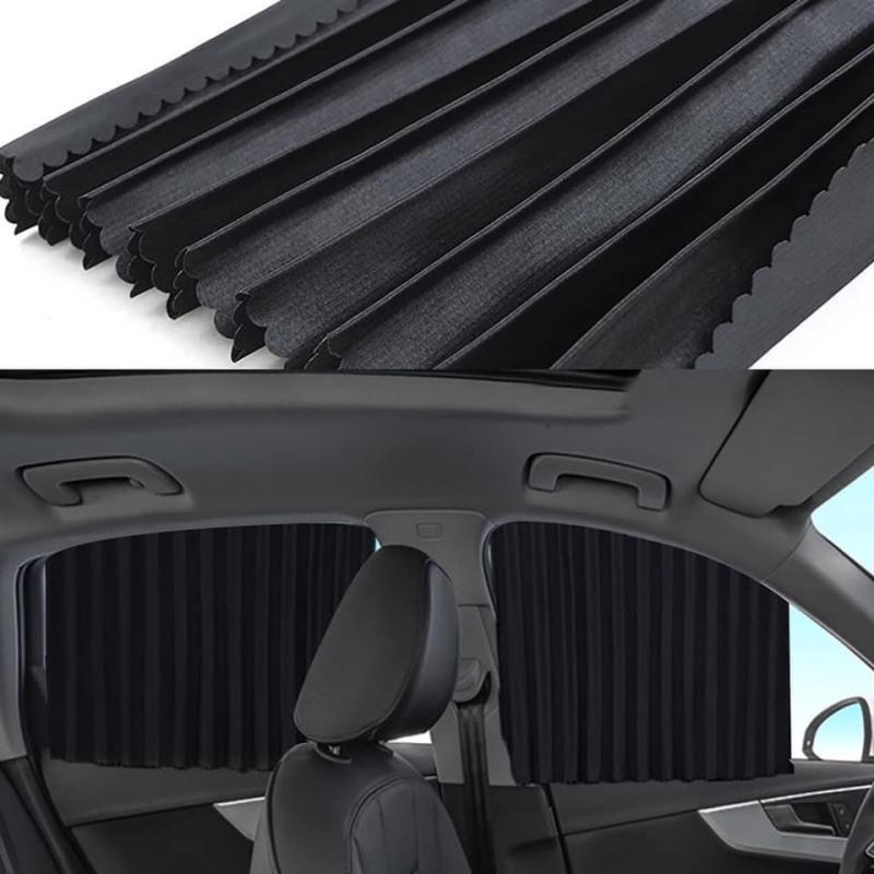 Bộ 4 rèm vải thông minh che nắng 4 cánh cửa xe hơi, ô tô cao cấp CC29 (Màu đen)