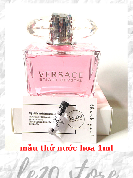 [ Mẫu thử 1ml ] Nước hoa nữ chính hãng Versace Bright Crystal - nước hoa nữ thơm lâu - nuoc hoa versace - nuoc hoa cao cap