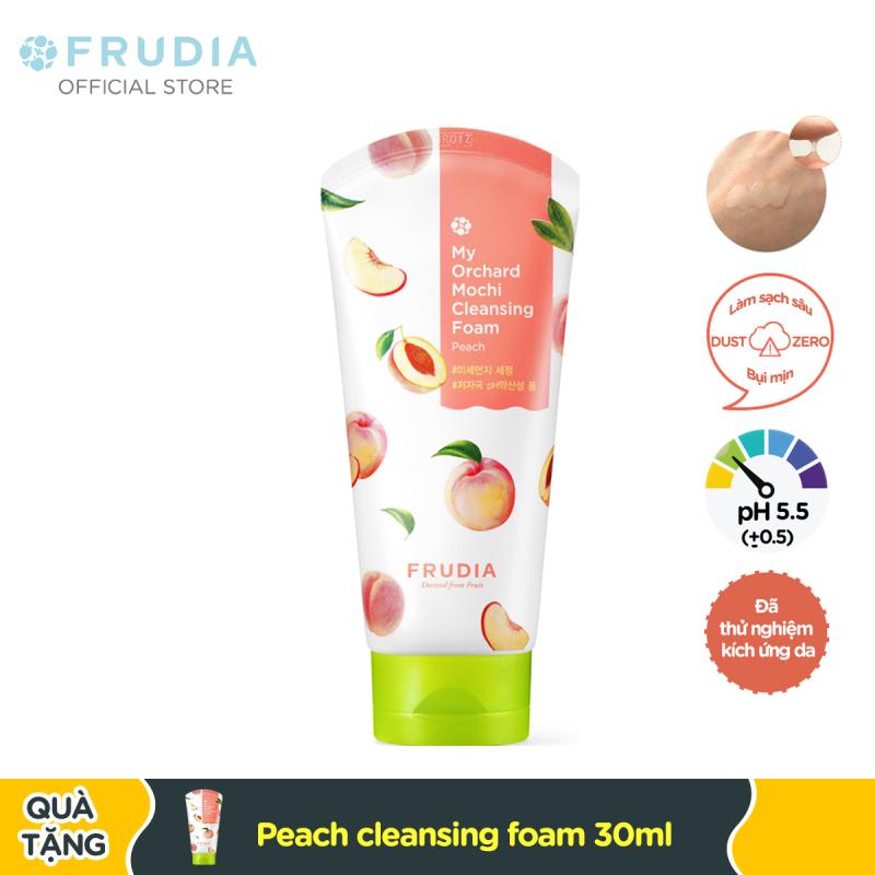 Sữa Rửa Mặt Cấp Ẩm Chiết Xuất Trái Đào Frudia My Orchard Mochi Cleansing Foam Peach 120ml cao cấp