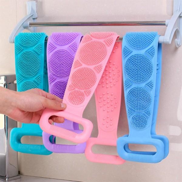 Dây tắm chà lưng 2 mặt silicon cao cấp - Dây bông tắm tạo bọt tẩy tế bào chết, matxa thư giãn lưu thông máu - Dùng được cho nam nữ cao cấp