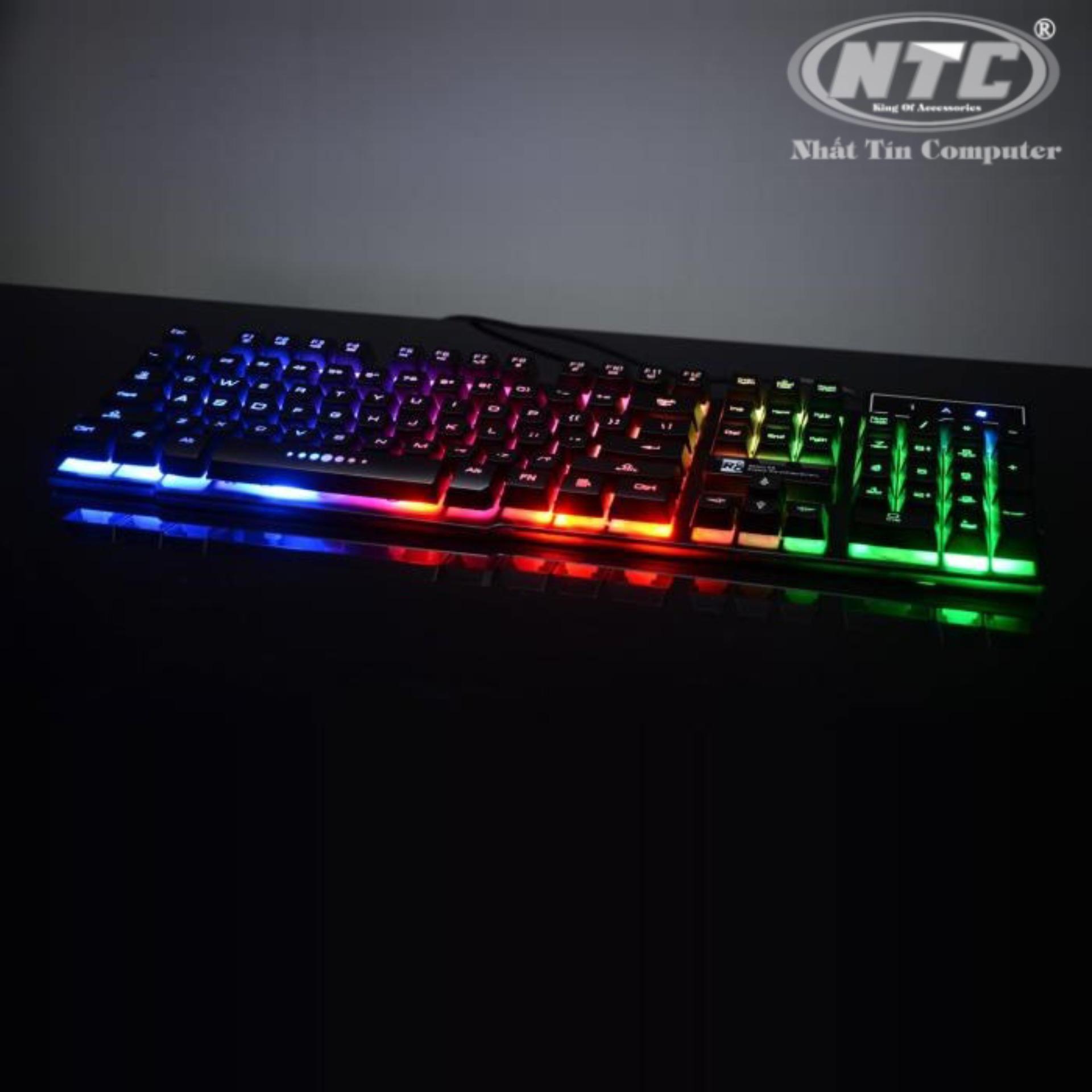 [HCM]Bàn phím giả cơ chuyên Game Led 7 màu R8 1822 (Đen) - Hãng phân phối chính thức - Nhất Tín Computer